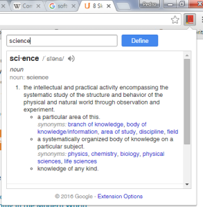 google-definition-science